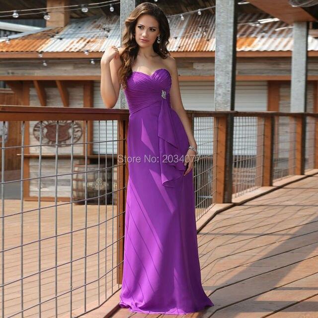 Robe demoiselle d\'honneur Ciruela fucsia de dama de Honor Vestidos ...