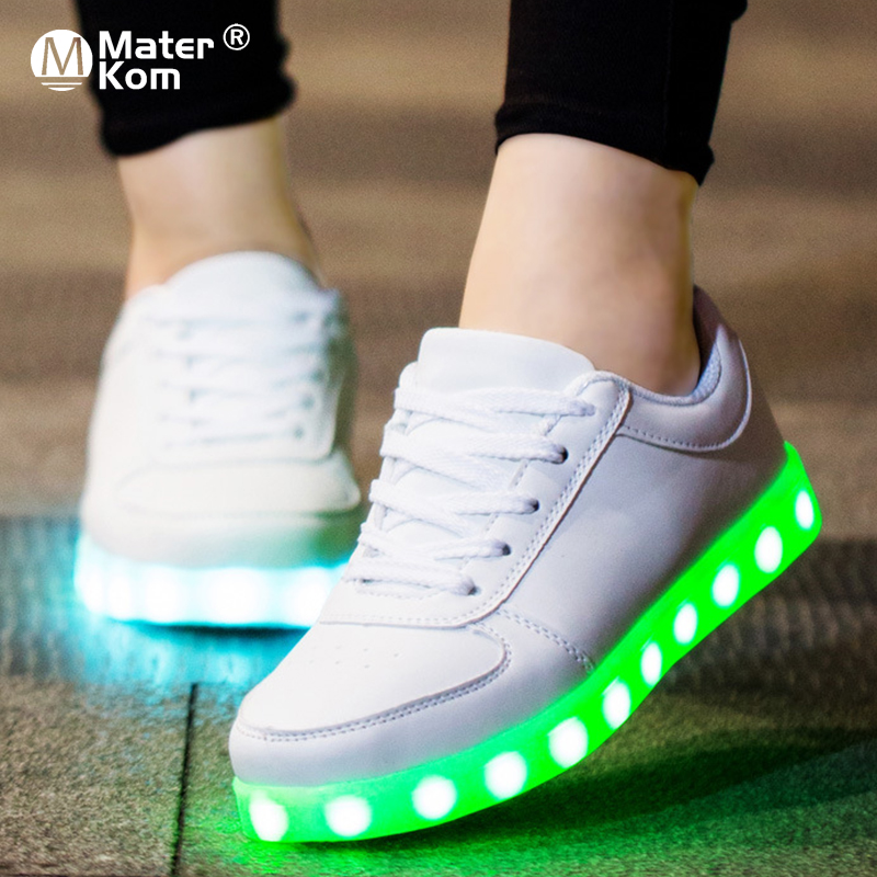 Size 27-42 USB Charger Glowing Sneakers Lighted Shoes for Boy&Girl Casual Led Shoes for Children Led Slippers Luminous Sneakers