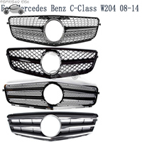 Fit for Mercedes Benz C CLASS W204 2008 2009 2010 2011 2012 2013 2014 DIAMOND AMG Grille C180 C200 C300 Black Grill