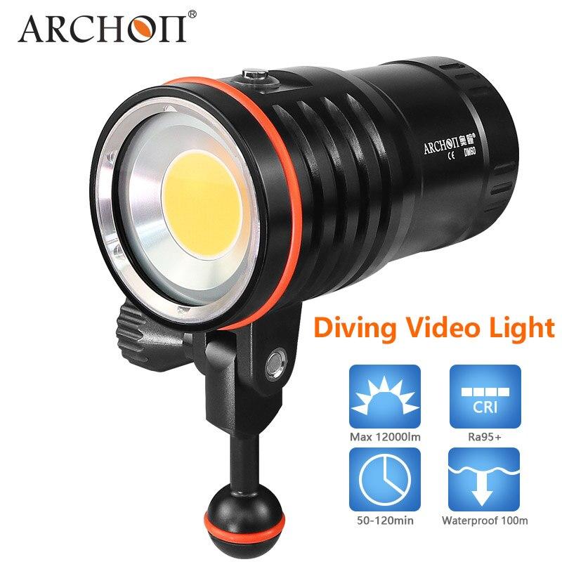 ARCHON дайвинг фотографии свет Макс 12000 люмен положительный белый Освещение Дайвинг съемки под водой HD видео фото дайвинг свет