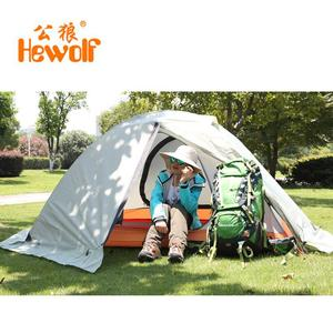 Image 5 - Hewolf Outdoor Four Seasons 2 person winterized winter tent Double layer Beach Tourist camping tent snow skirt