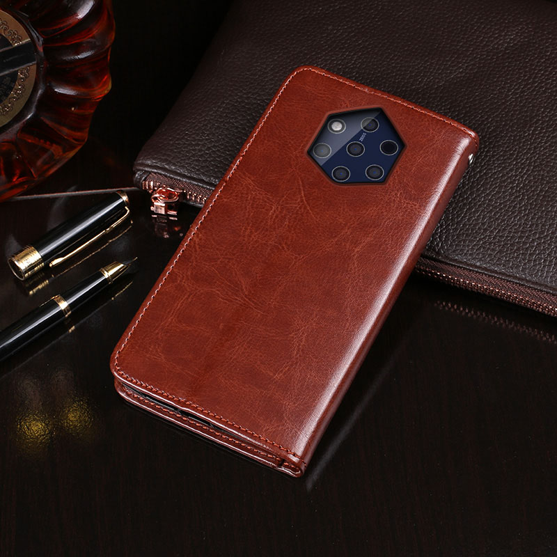 For Nokia 9 PureView Case Flip Wallet Business PU Leather Coque Phone Case for Nokia 9 PureView Cover Back Fundas Accessories