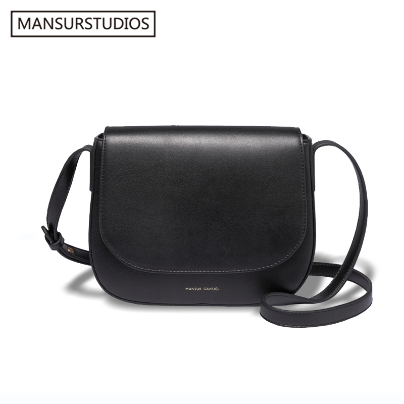 2017 Mansur Gavriel women Split leather leather crossbody bag ,lady  leather shoulder bag, saddle bag.free shipping