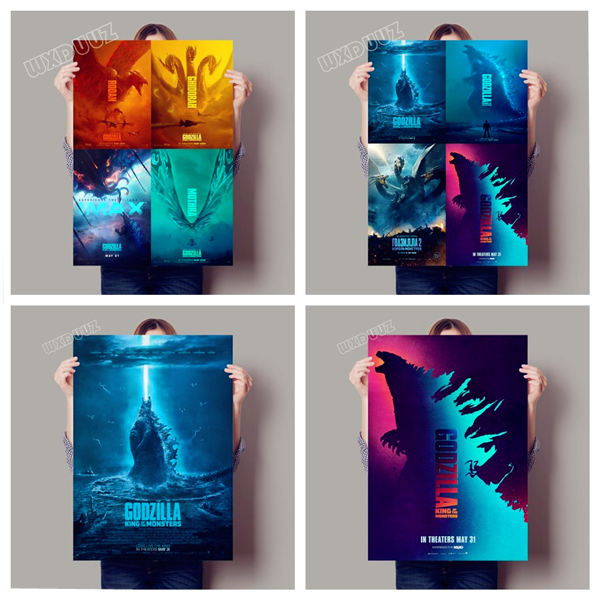 2019 Reying Movie Godzilla:King Of The Monsters Posters Home Decor Art Decor Nursery Kids Room Mural HD Wall Art Canvas Painting