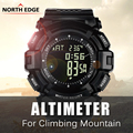 NORTHEDGE Digital Men Watch Men's Outdoor Warrior Weather Altimeter Barometer  Pedometer Shock Waterproof Multifunction Watches