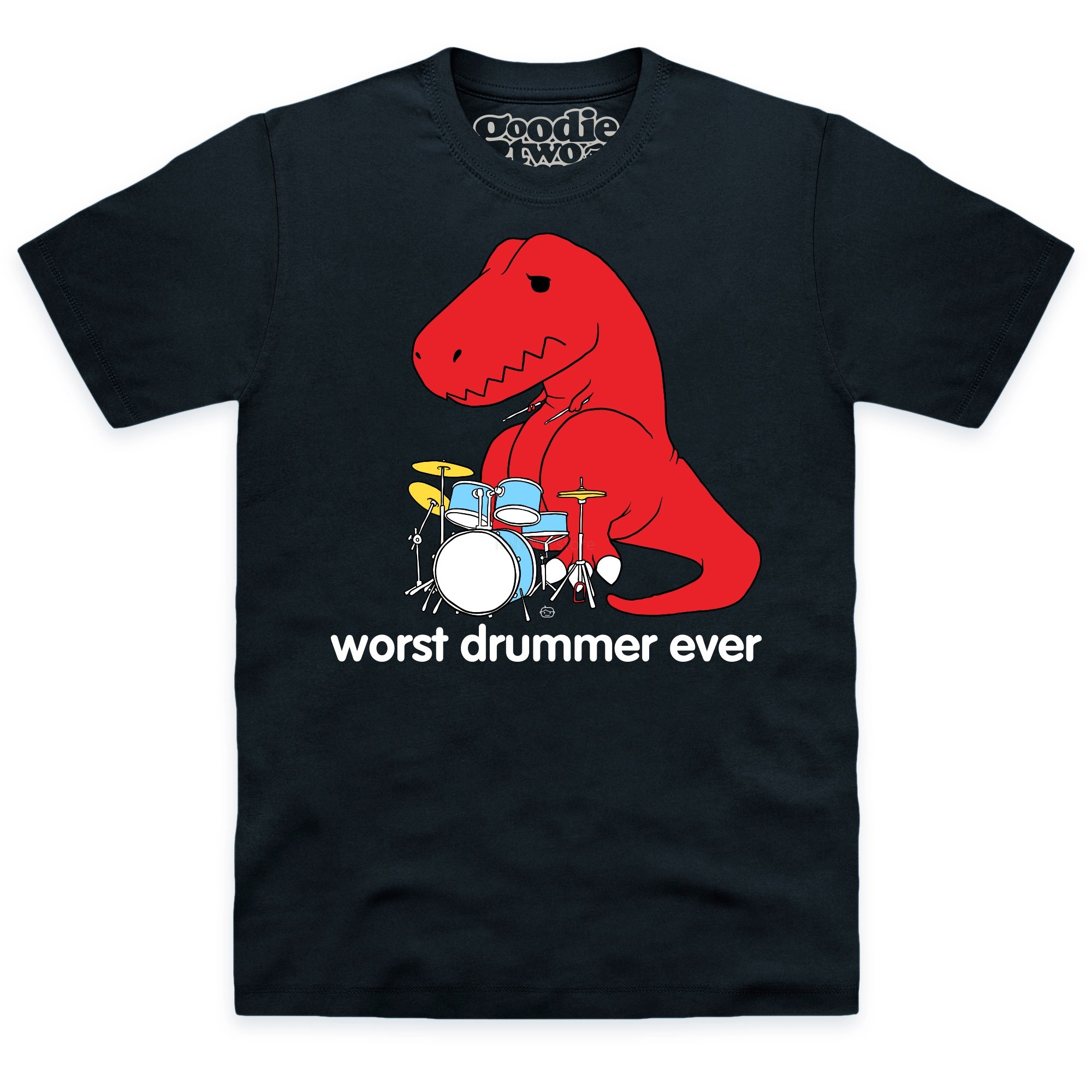 Goodie Two Sleeves Worst Drummer Ever T Shirt 2019 new streetwear men's short-sleeved T-shirt image