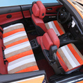 Cubierta de asiento de coche sin respaldo Perla lino cojín esteras pequeño coche cubierta de asiento de coche, coche que labra Para BMW Audi