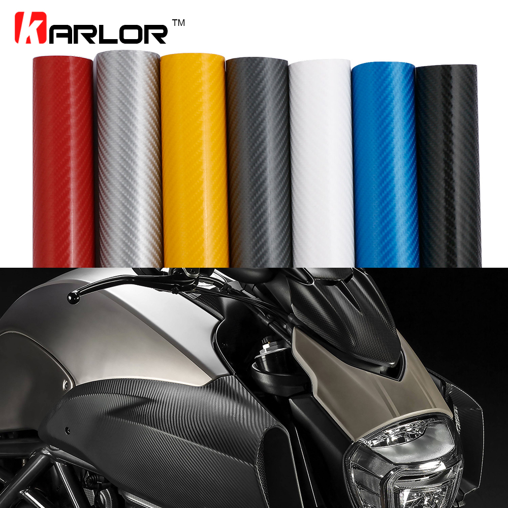 10x152cm 4D Carbon Fiber Vinyl Wrapping Film Motorcycle <font><b>Stickers</b></font> Accessories For Yamaha r3 fz6 mt 07 r6 ybr 125 mt 09 <font><b>r1</b></font> fz1 xj6 image