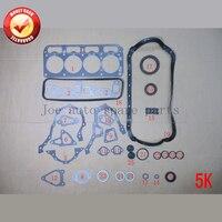 Toyota liteace 용 5 k 엔진 완전 가스켓 세트 키트 1.5l 1486cc 1985-1995 50111800 04111-13046 04111-13090 04111-13044