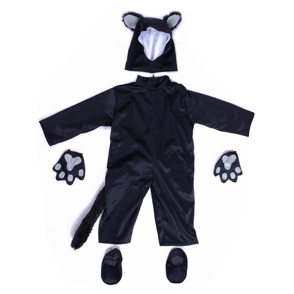Kids Black Cat Costume Little Kitten Cosplay Costume