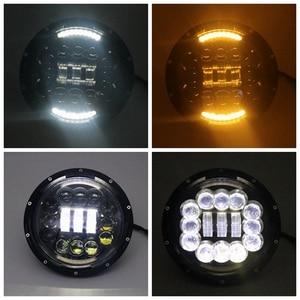 Image 2 - Yait 2 pçs 7 polegada redonda led farol alto baixo feixe dc12v 24v luzes farol para wrangler lada 4x4 urbano niva suzuki samurai