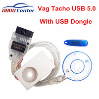 Newly Vag Tacho Usb V5.0 Ecu Diagnostic Cable Vagtacho 5.0 Scanner Obdii Obd2 Ecu Chip Tuning Tool With Usb Dongle Pin Code