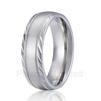 high quality 2016 new private design nice pattern handmade pure titanium wedding band finger rings for men