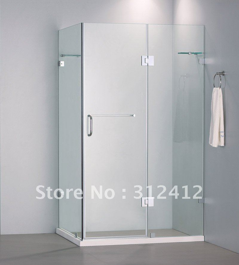 10mm Tempered Glass Frameless Rectangle Shower Enclosure Shower Cabin With  Hinge Door In Bath Screens From Home Improvement On Aliexpress.com |  Alibaba ...