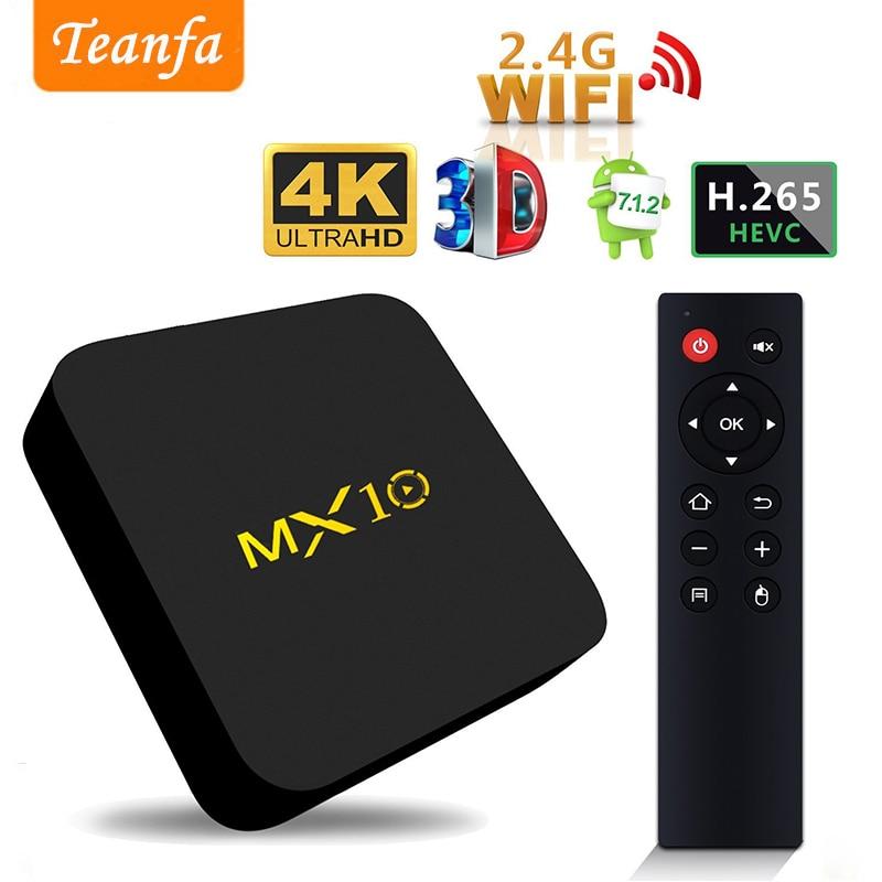где купить MX10 4GB DDR4 32GB eMMC Android 7.1 TV BOX RK3328 Quad Core KODI 18.0 4K Media Player HDR 2.4GHz WIFI USB 3.0 Smart Set Top Box по лучшей цене