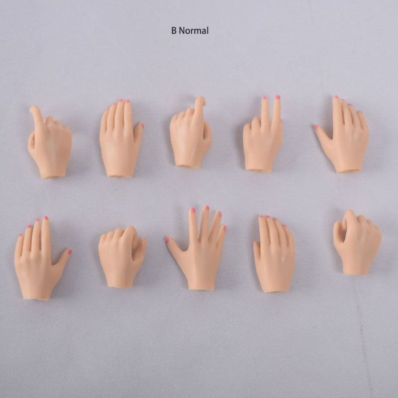 5 Pairs 1//6 Female Hand Types Models Nail Polish Pink Skin For 12/'/' Figure