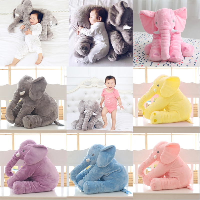 1pc 40 / 60cm Fashion Baby Animal Elephant Style Doll Stuffed Elephant Plush Pillow Kids Toy Barnrum Säng Sängduksbord