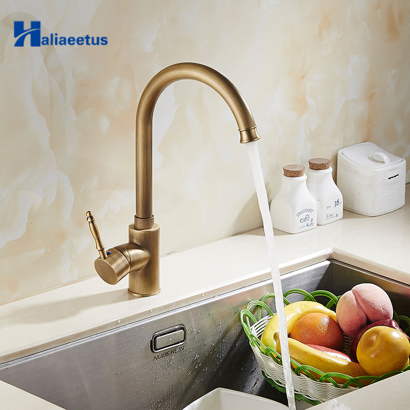 New Hot and Cold Bathroom Heightening Antique Kitchen Sink Faucets Brass Porcelain Basin Faucet 360 Swivel