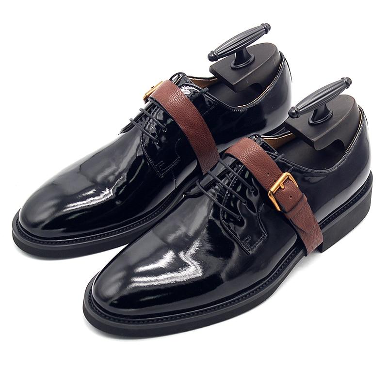 2018 Top Quality Men Derby Shoes Flat heel Buckle Formal Business Dress Shoes for men 2018 Top Quality Men Derby Shoes Flat heel Buckle Formal Business Dress Shoes for men