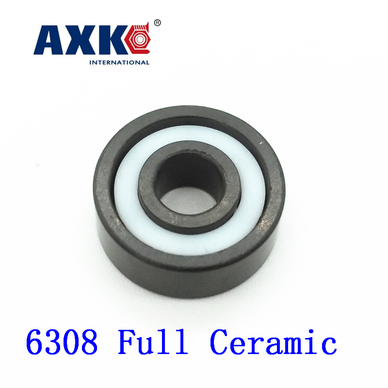 2018 Real Sale Axk 6308 Full Ceramic Bearing ( 1 Pc ) 40*90*23 Mm Si3n4 Material 6308ce All Silicon Nitride Ball Bearings цена