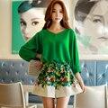 Original New Design 2016 Brand Autumn Short Plus Size Loose Floral Printed Wide Leg Shorts Women Wholesale