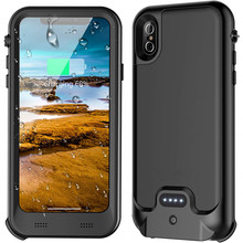 For iPhone X/XS Wterproof case Ultra Thin 3600mAh Power Bank waterproof Case Battery Charger Cover IP68 X 5.8