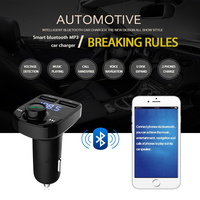 Bluetooth Car Kit FM Transmitter Handfree Dual USB Car Charger styling for DACIA logan duster sandero lodgy sandero accessories