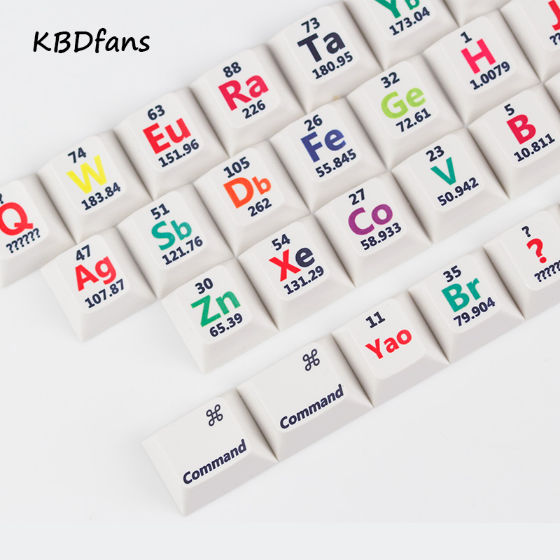 Cherry profile pbt keycaps 26 keys chemical element periodic table cherry profile pbt keycaps 26 keys chemical element periodic table for mechanical keyboard the sublimation in keyboards from computer office on urtaz Choice Image