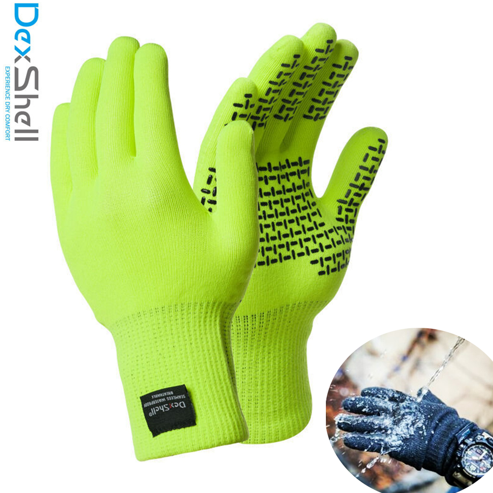 Dexshell New Coolmax TouchFit Real Waterproof Gloves Men Fishing Cycling Outdoor Sports Snow Windproof Skiing Watertight