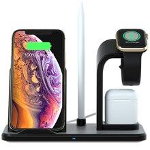 3 trong 1 sạc Nhanh không dây Cho AirPods Di Động điện thoại dây tai nghe Tai nghe sạc cho iPhone iWatch Samsung Huawei