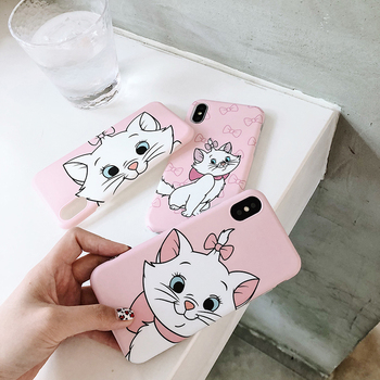 Cartoon pet dog marie cat soft case for iphone XSMax XR matte cover case for iphone 6 6s 6 s 7 8 plus X cases back phone fundas 1