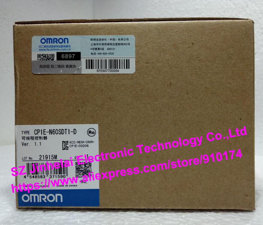 100% New and original  CP1E-N60SDT1-D  OMRON PLC CONTROLLER cp1e n40dr d new and original omron plc controller