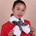 Womens Genuine Length Fur Scarves Lady Natural Rex Rabbit Fur Muffler Winter Real Fur Neck warmer Multicolor Natural Fur Wraps