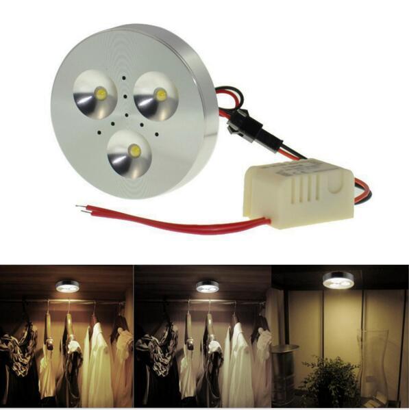 ФОТО Wholesale 5pcs/lo AC85-265V 3w LED Puck Cabinet Light white/warm white led donwlight 110V 220V 3w led puck light for cabinet