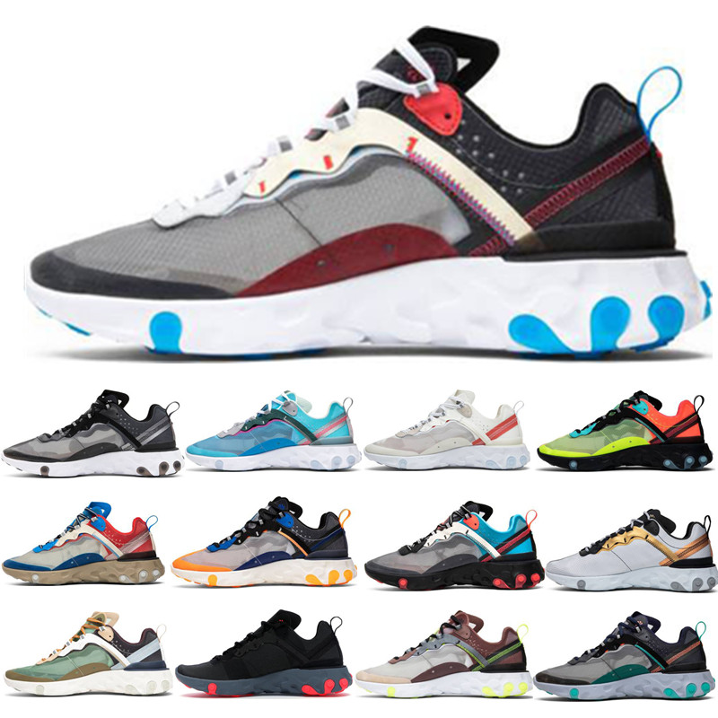 New React Element 87 Undercover X S0UTH Coming soon running shoes men designer sports shoes lightweight bone sneakers shoes