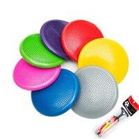 33cm PVC Yoga Balance Cushion Yoga Balls for Fitness Pilates Pad Gym Exercise Half Balls Point Massage Balance Balls+1*Pump Air