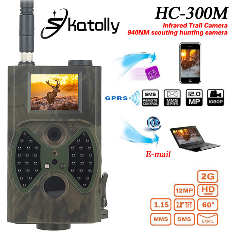 Skatolly HC300M 940NM Infrared Night Vision 12M Digital Trail Camera Support Remote Control 2G MMS GPRS GSM Hunting Camera skatoll hc300m 940nm night vision