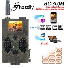 Big discount Skatolly HC300M 940NM Infrared Night Vision 12M Digital Trail Camera Support Remote Control 2G MMS GPRS GSM Hunting Camera