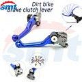 For Suzuki DRZ400SM DRZ 400SM DRZ400 SM 2000-2013 CNC Aluminum Dirt Bike FLEX Pivot Brake Clutch Lever clutch brake levers blue