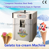 Hard Ice Cream Machine Commercial Gelato Machine Stainless Steel 220V Yield 18 liters/h Easy Operation