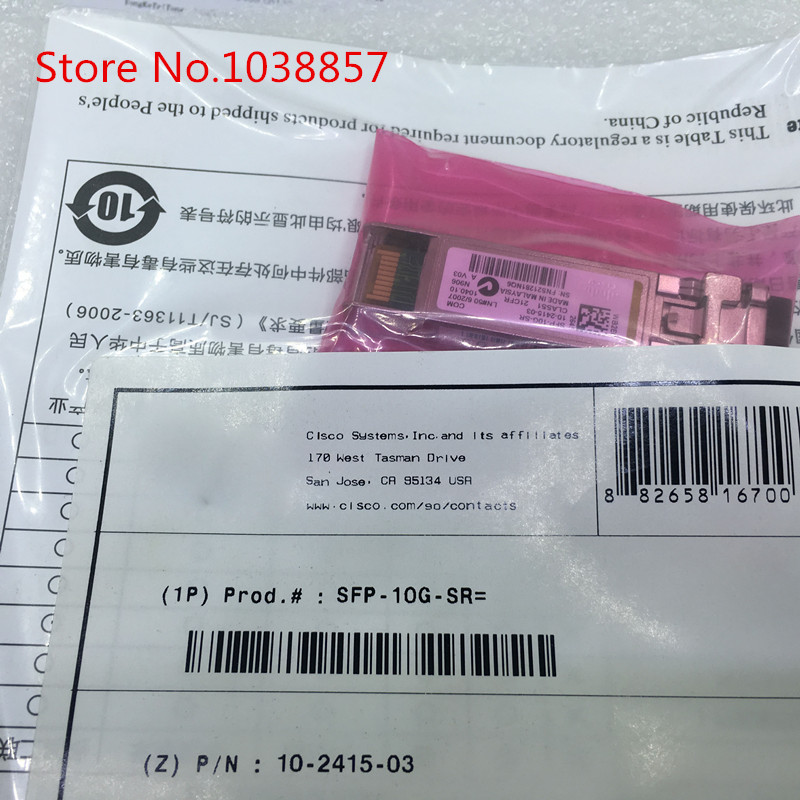 1PCS/LOT SFP-10G-SR= 850NM 300M 10G new axm761 netgear sfp 10g 850nm 300m fy03