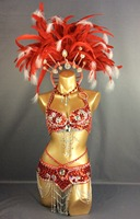 free shipping HOT SALE!!! parade 2015 Sexy Samba Rio Carnival Costume Feather Headdress #C209