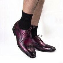 Phenkang/мужские кожаные туфли; женские туфли-оксфорды из натуральной кожи для мужчин; Роскошные модельные туфли; свадебные туфли для влюбленных; Кожаные броги