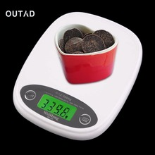 OUTAD LCD 3Kg/0.5 Digital Weight Scale Food Diet White Slim  Electronic accurate Kitchen Measuring Tools Practical Accessories