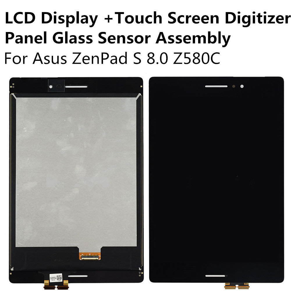 LCD Display + Touch Screen Digitizer Panel Glass Sensor Assembly For Asus ZenPad S Z580C 8inch Replacement Parts Repair Part