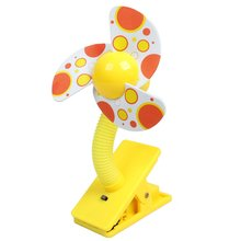 New Hotsale Best Price In Aliexpress promotion 1.5V AA Battery Power Foam Blade Clip Style Mini Handy Fan Yellow