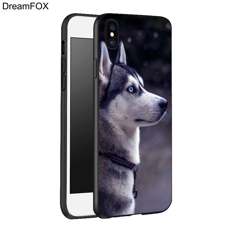DREAMFOX K198 Sled Dogs Black Soft TPU Silicone Case Cover For Apple iPhone X 8 7 6 6S Plus 5 5S 5G SE