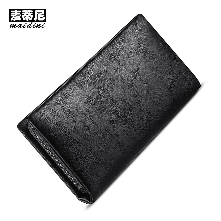 Large Capacity Business Men's Wallets Soft PU Leather Long Wallet Male Casual Handy Bag Zipper RFID Clutch Bags for Smartphone 2016 famous brand new men business brown black clutch wallets bags male real leather high capacity long wallet purses handy bags