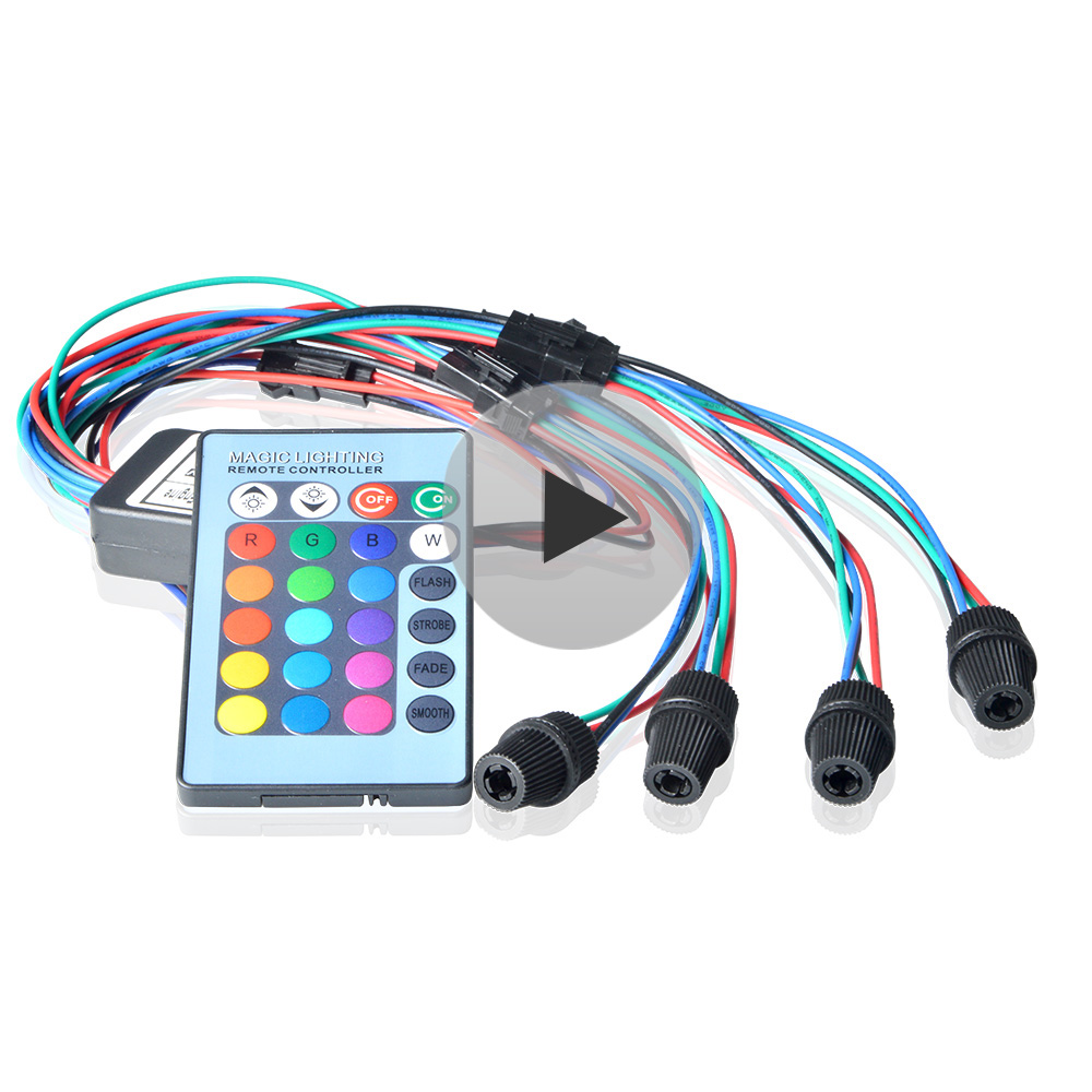 Maykit Side Glow RGB 2W DC 12V Car Decorative Light Fiber Optic Car With Mini Optic Fibre Remote Controller
