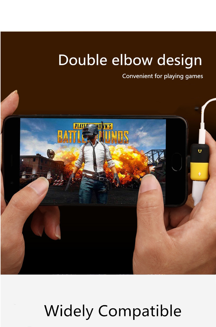 Dual Headphone 2 In 1 Audio Charger 12